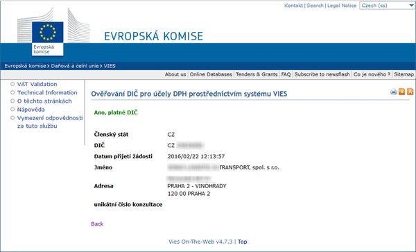 Ваша фирма в Чехии всегда подтвердит статус плательщика НДС даже в том случае, если она не является им в самой Чехии